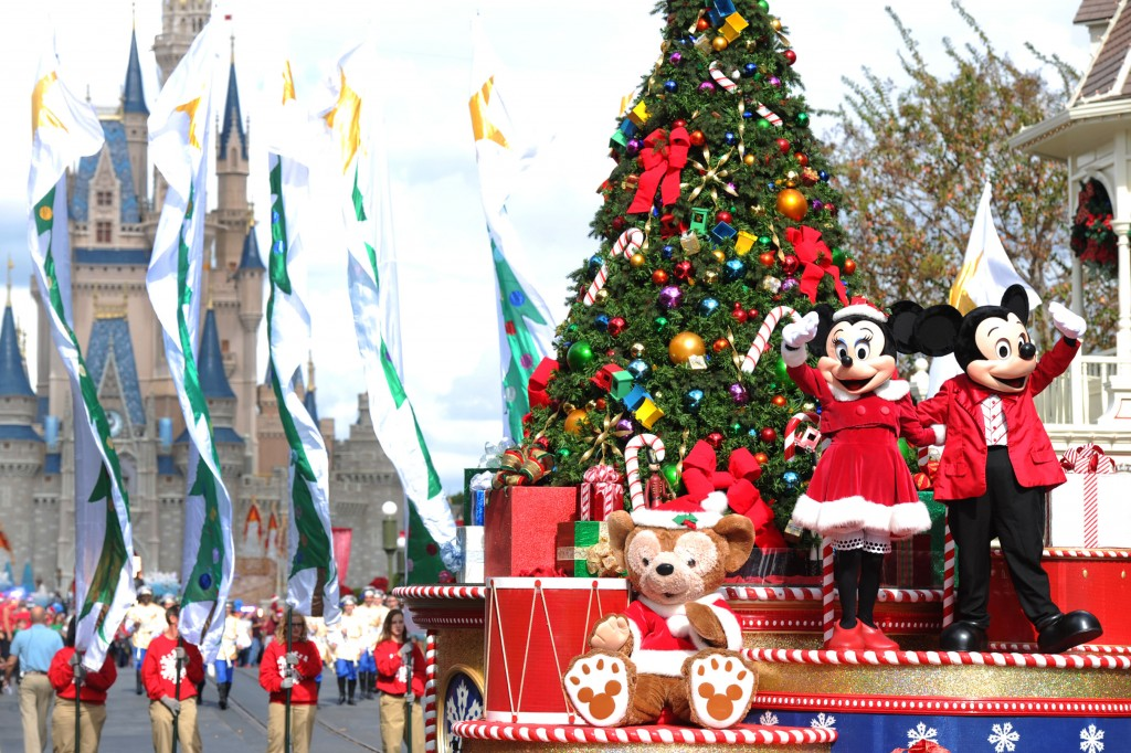 Christmas Day Parade.Focused On The Magic Disney Parks Christmas Day Parade