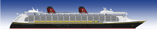 Disney Dream Ship Rendering