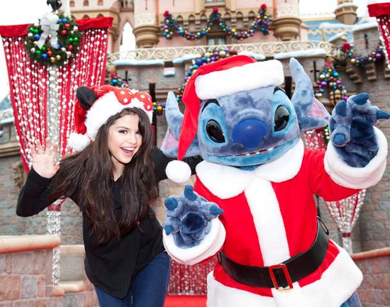 Selena Gomez with Santa Stitch