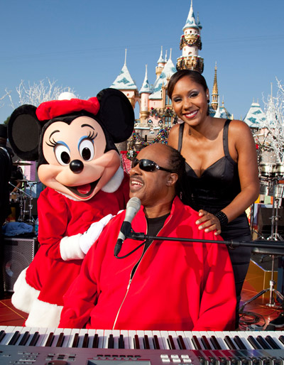 Minnie Mouse, Stevie Wonder and Aisha Morris