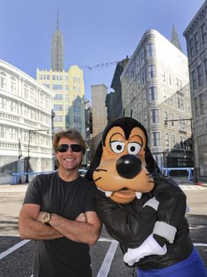 Jon Bon Jovi with Goofy at Disney's Hollywood Studios