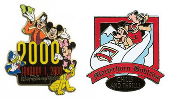 January 2000 and Matterhorn Bobsleds Error Pins