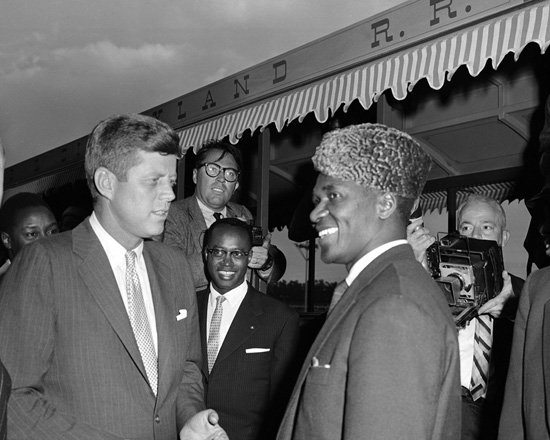 President John F. Kennedy and the President of Guinea, Ahmed Sékou Touré