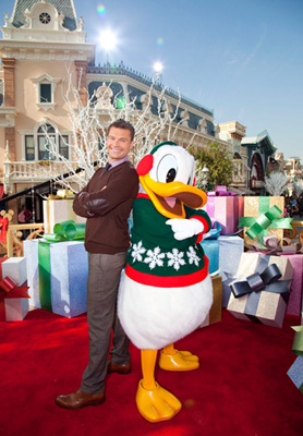 Ryan Seacrest and Donald Duck