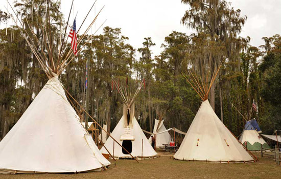 Thanksgiving Tepees at Disney's Fort Wilderness