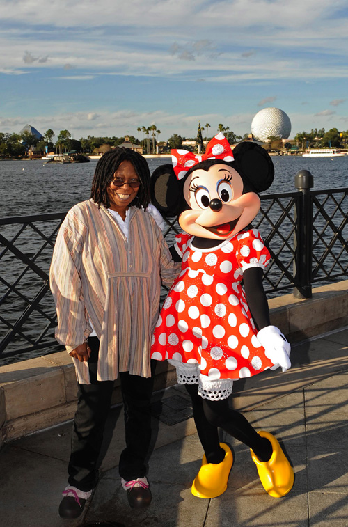 Whoopi Goldberg and Minnie Mouse At Epcot