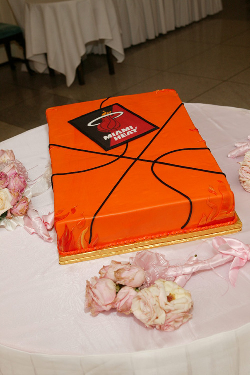 Disney Weddings Miami Heat Cake