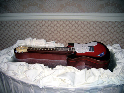 Disney Weddings Guitar Cake