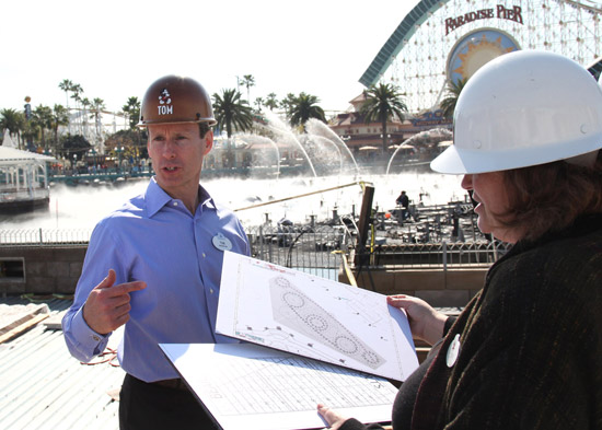 New Chairman Tom Staggs touring World of Color