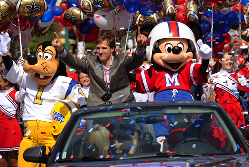 Walt Disney World Parade Celebrates Super Bowl MVP Drew Brees