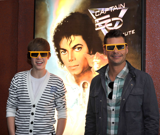 Justin Bieber and Ryan Seacrest Check Out Captain EO