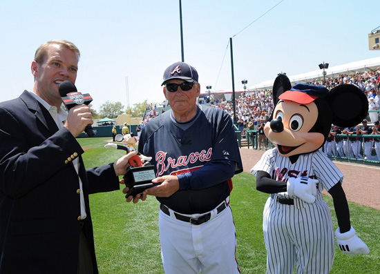 Atlanta Braves Manager Bobby Cox Receives a Mousekar