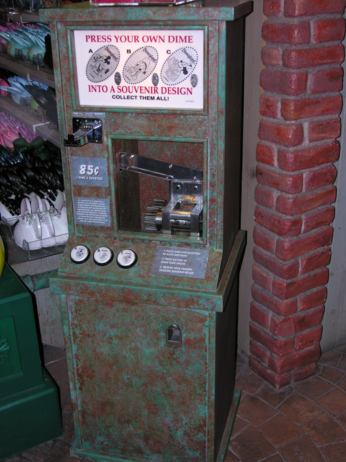 Disneyland Pressed Coin Machine
