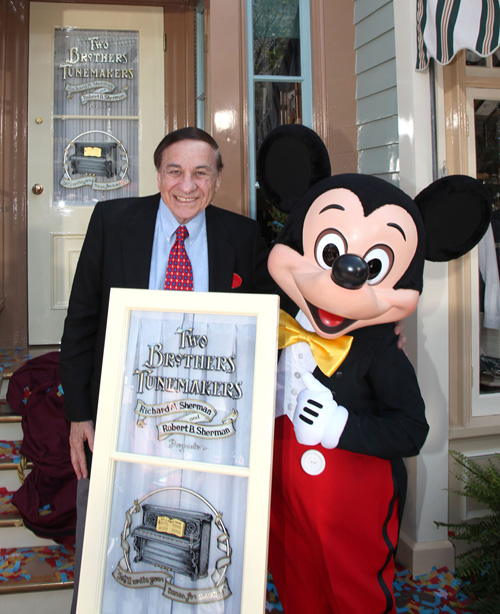 Legendary Sherman Brothers Honored with Window on Main Street, U.S.A.