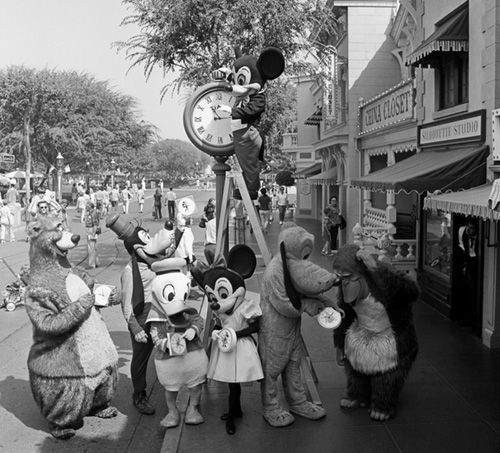 Mickey Mouse, Goofy, Pluto and Friends Change the Clock on Main Street, U.S.A.