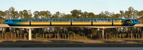Disney Monorail Trains to Feature TRON: LEGACY Art