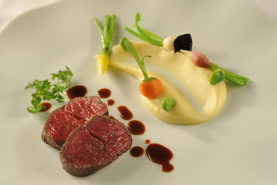 Japanese Wagyu Beef with Garlic-Potato Purée, to be Served at Remy