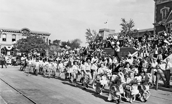 Mouseketeers March Down Main Street, U.S.A. in 1955