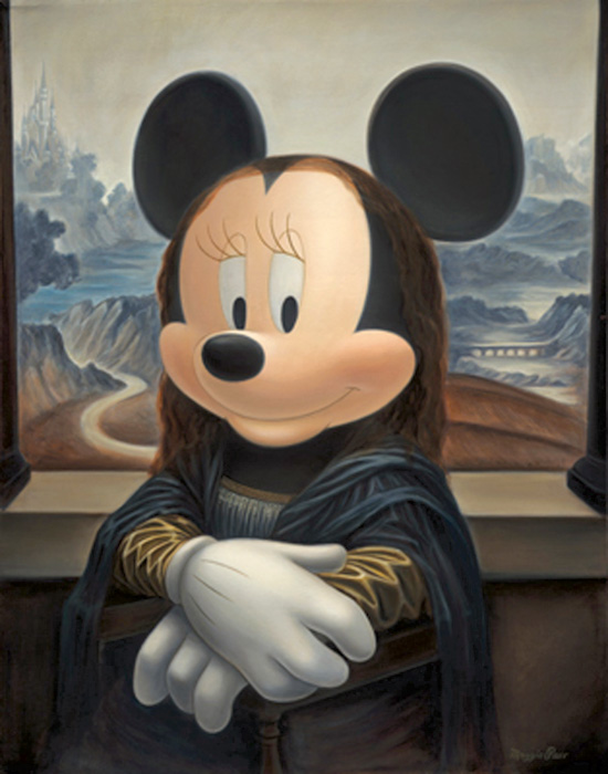 Minnie as the Mona Lisa