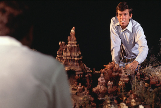 Tony Baxter and Big Thunder Mountain Railroad Model Before Attraction's 1979 Opening