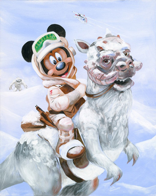 Mickey Mouse on a TaunTaun