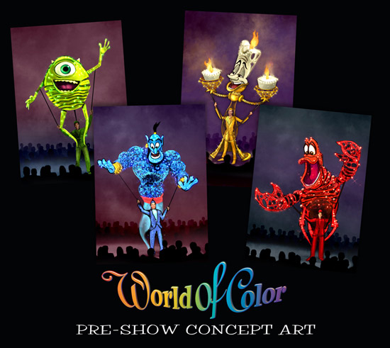Carnivale Puppets Kick off 'World of Color' Pre-Show