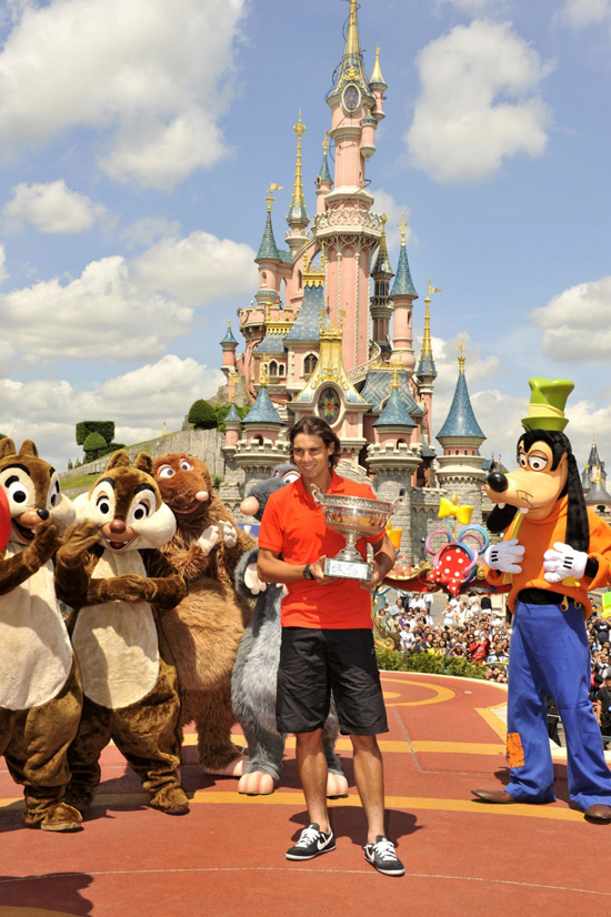 French Open Champ Rafael Nadal Celebrates at Disneyland Paris