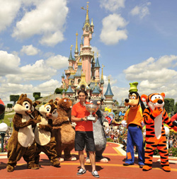 French Open Champ Rafael Nadal Celebrates at Disneyland Paris