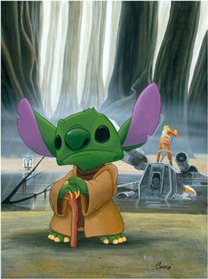 Stitch as Master Yoda