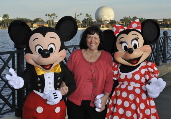 Kay B. with Mickey and Minnie