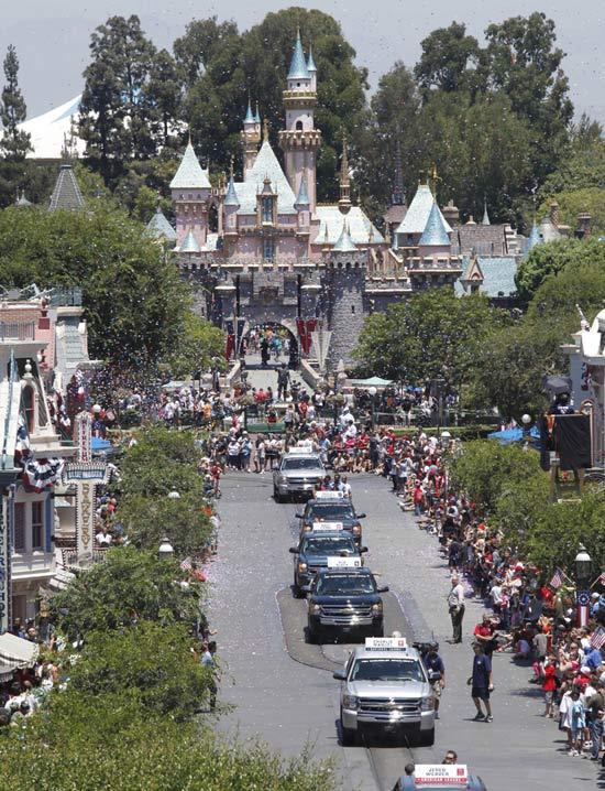 Parade down Main Street, U.S.A.