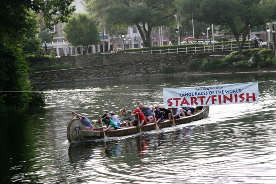 Team competing in Canoe Races of the World