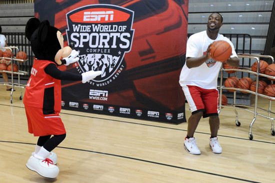 Dwyane Wade Celebrates at ESPN Wide World of Sports Complex