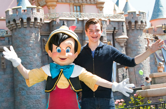 """Glee"" star, Chris Colfer with Pinocchio"