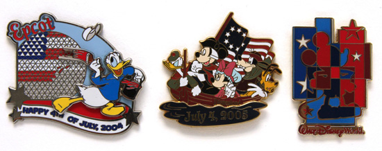 Fourth of July Disney Pins