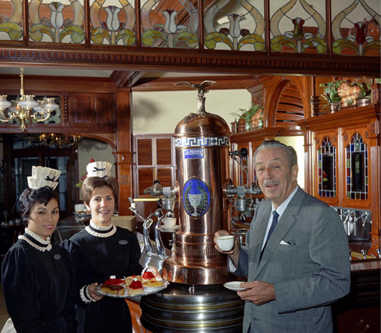 Walt with Cast Members at the Creole Café