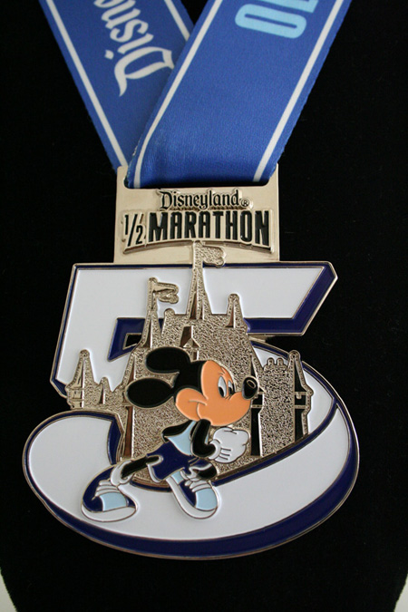 Fifth Anniversary Disneyland Half Marathon Finishers Medal