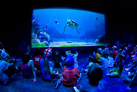 Children enjoying a movie at Walt Disney World