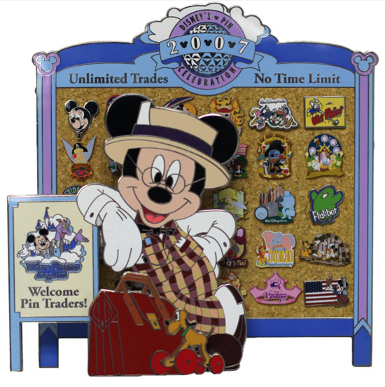 2007 Mickey Welcome Trading Pin