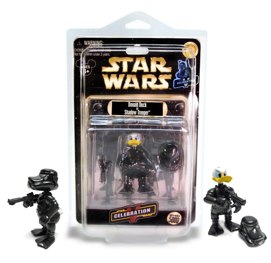 Sneak peek donald duck as shadow trooper action figure for Merchandising star wars