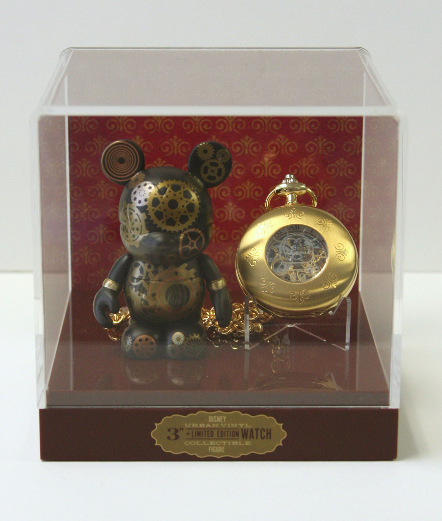 pocket watch vinylmation mickey mouse gears steampunk collectible walt disney world wdw disneyland