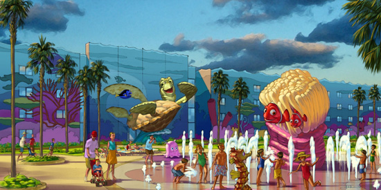Artist Rendering of Finding Nemo at Disney's Art of Animation Resort