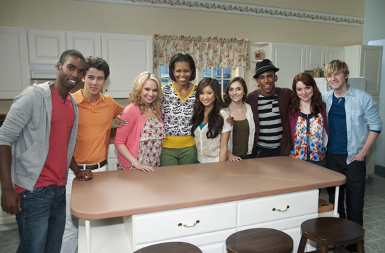 First Lady Michelle Obama and Disney Channel Stars
