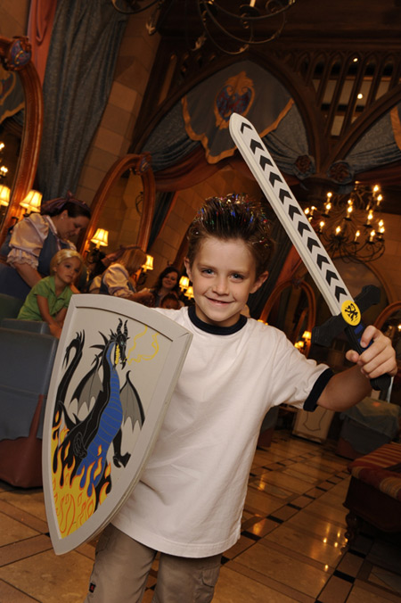 Young Lad Magically Transformed Into a Brave Knight at the Bibbidi Bobbidi Boutique