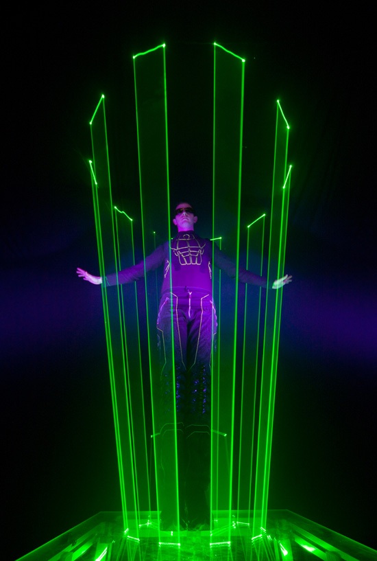 LASERMAN at Disney California Adventure Park's ElecTRONica