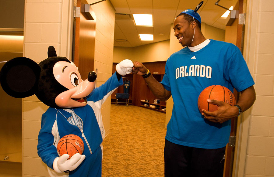 Mickey Mouse and Dwight Howard are Buddies