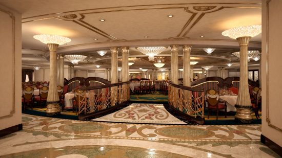 Disney Dream Royal Palace Restaurant Artist Rendering