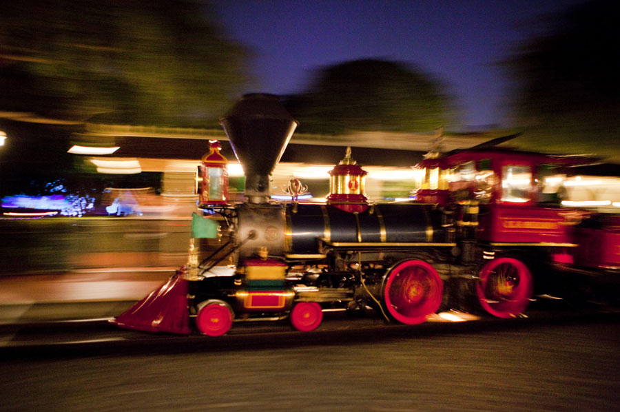 Image of Train Taken With a Technique Called Panning, By: Paul Hiffmeyer