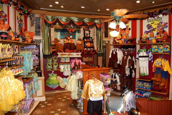 Halloween Decor at Disney's Showcase at Disneyland Resort