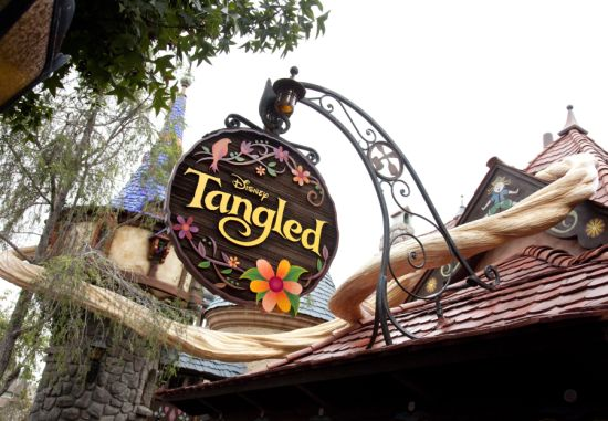 'Tangled' Sign in Fantasyland